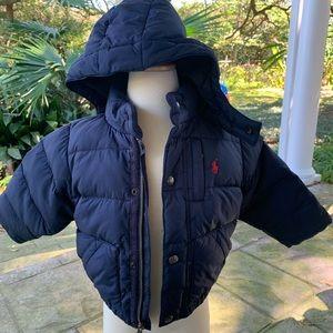 Ralph Lauren navy puffer jacket baby